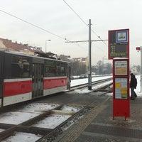 Photo taken at Hradčanská (tram) by Jakub M. on 12/31/2010