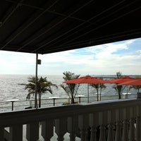 Photo taken at Lombardi's On The Bay by Christine F. on 9/25/2011