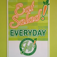 Photo taken at Jeffs Neighborhood Salad Company by aday i. on 10/25/2011