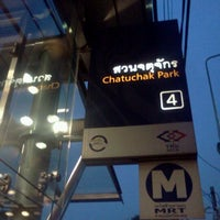Photo taken at MRT Chatuchak Park (CHA) by Nine S. on 2/17/2012