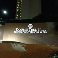 Photo taken at DoubleTree by Hilton Ocean Point Resort & Spa - North Miami Beach by MeC on 8/2/2012