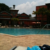 Photo taken at Pool At 5 West by Stephanie R. on 8/27/2011