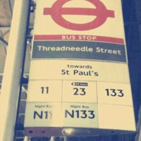 Photo taken at Threadneedle Street by Nicole C. on 11/13/2011