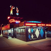 Photo taken at Superdawg Drive-In by Johnny H. on 6/28/2012