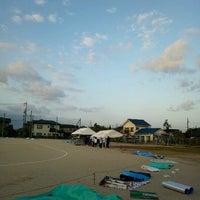 Photo taken at 米子市立弓ヶ浜小学校 by Kazutaka A. on 9/30/2011