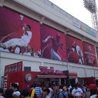 Photo taken at Mudeung Baseball Stadium by HyunJu L. on 5/26/2012