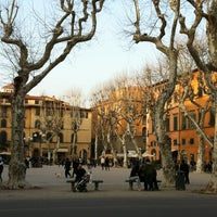 Photo taken at Piazza Napoleone by ilbiancoeilrosa o. on 3/17/2012