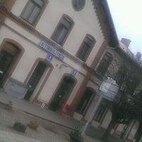 Photo taken at Železniční stanice Střelice by Honza K. on 3/1/2012