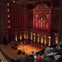 Photo taken at New England Conservatory's Jordan Hall by Bruce W. on 1/1/2012