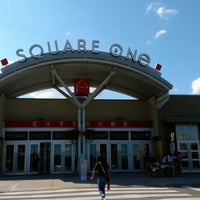 Photo taken at Square One Shopping Centre by Olivia on 7/28/2012