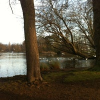 Photo taken at Pittville Park & Lake by Betti M. on 1/28/2012