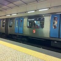 Photo taken at Metro Restauradores [AZ] by Caio T. on 1/12/2012