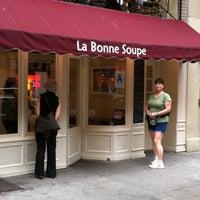 Photo taken at La Bonne Soupe by Steve E. on 9/25/2011