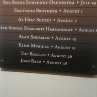 Photo taken at Red Rocks Interactive Hall Of Fame by Kristal K. on 7/27/2011