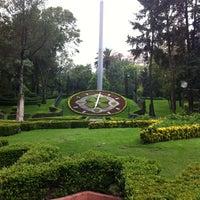 Photo taken at Parque Luis G. Urbina (Parque Hundido) by Beto C. on 8/21/2012
