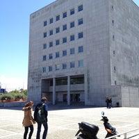 Photo taken at Biblioteca da FEUP by Tiago M. on 4/27/2012