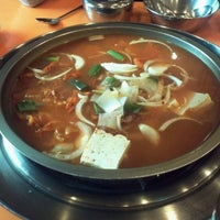 Photo taken at 엄마손부대찌개 by song j. on 1/28/2012