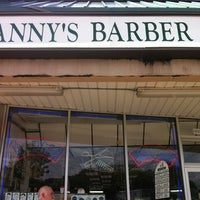 Photo taken at Manny's Barber Shop by Jonathan N. on 9/10/2011