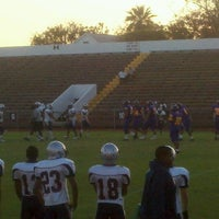 Photo taken at Kermit Courville Stadium by Patricia B. on 10/27/2011