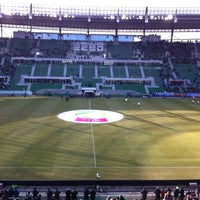 Photo taken at Stadion Wrocław by Agata S. on 2/26/2012