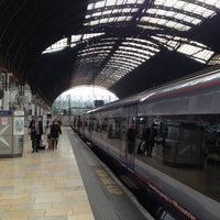 Photo taken at Heathrow Express Train - Paddington [PAD] to Heathrow [HXX] by Lynne J. on 3/14/2012