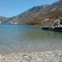 Photo taken at palionhsos beach by Sofia K. on 8/22/2012