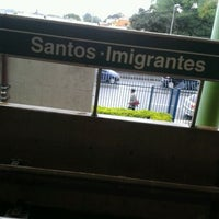 Photo taken at Estação Santos-Imigrantes (Metrô) by Julliana M. on 4/27/2012