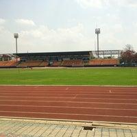 Photo taken at สนามกีฬาจังหวัดพระนครศรีอยุธยา by Aof on 5/13/2012