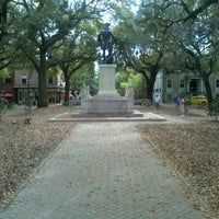 Photo taken at Forrest Gump's Bench (former location) by Christian P. on 3/22/2012