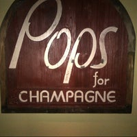 Photo taken at Pops for Champagne by Robert on 7/8/2012