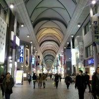 Photo taken at Hiroshima Hondori Shotengai by Norimasa M. on 2/24/2012