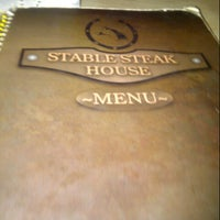 Photo taken at Stable Steak House by Amymomo 9. on 8/11/2012