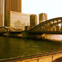Photo taken at Kachidoki Bridge by yass_taken on 3/20/2012