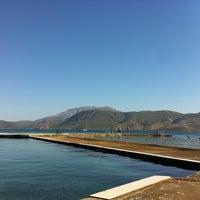 Photo taken at Havuzlu Plaj by Ender T. on 8/25/2012