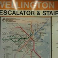 Photo taken at MBTA Wellington Station by Renee G. on 10/14/2011