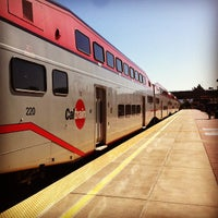 Photo taken at Hayward Park Caltrain Station by Chris B. on 10/17/2011