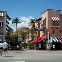 Photo taken at Espanola Way Village by Jin P. on 3/13/2012