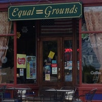 Photo taken at Equal Grounds Coffeeshop & Books by Thomas W. on 7/12/2012