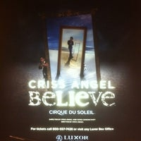 Photo taken at CRISS ANGEL Believe by Raúl H. on 2/25/2012