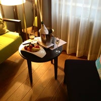Photo taken at Dome Hotel & Spa Riga by Elena C. on 5/6/2012