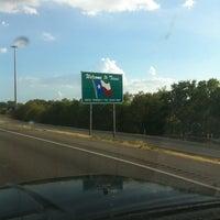 Photo taken at Oklahoma / Texas Border by Jon M. on 8/14/2011