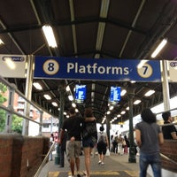 Photo taken at Strathfield Station (Platforms 7 & 8) by R T. on 11/30/2011