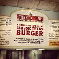 Photo taken at Mighty Fine Burgers by jay j. on 7/7/2012