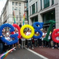 Photo taken at World Pride London 2012 by Rafael A. on 7/7/2012