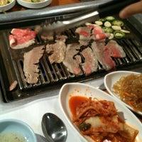 Photo taken at Hwang Jang Goon Bi Hwah Ssam by Megan M. on 10/30/2011