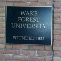 Photo taken at Wake Forest University by Nia C. on 5/21/2012