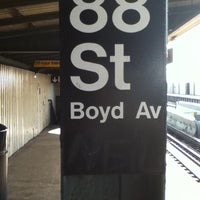 Photo taken at MTA Subway - 88th St/Boyd Ave (A) by Nathan z. on 3/27/2011