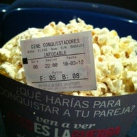 Photo taken at Cine Conquistadores by Pepe O. on 3/10/2012