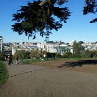 Photo taken at Alamo Square Dog Park by Nikolaj Hald N. on 12/4/2011