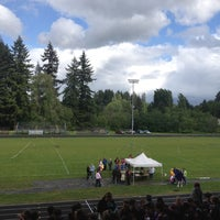 Photo taken at Columbia River HS Track by Laurel H. on 5/23/2012